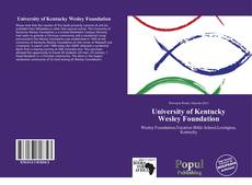 Borítókép a  University of Kentucky Wesley Foundation - hoz