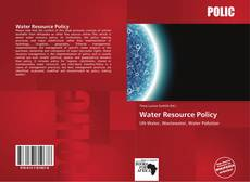 Bookcover of Water Resource Policy