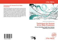 Copertina di Technique for Human Error Rate Prediction