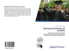 Bookcover of National University of Lesotho