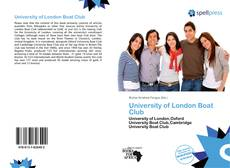 Couverture de University of London Boat Club