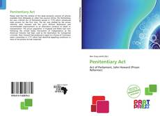 Bookcover of Penitentiary Act