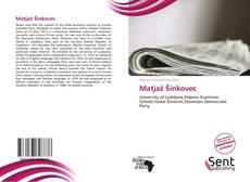 Matjaž Šinkovec kitap kapağı