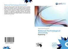 Couverture de National Technological University