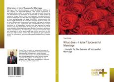 Buchcover von What does it take? Successful Marriage