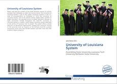 Bookcover of University of Louisiana System