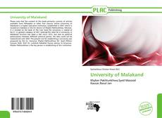 Bookcover of University of Malakand