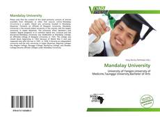 Capa do livro de Mandalay University