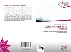 Bookcover of Water Privatization in England