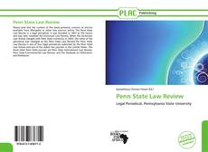 Capa do livro de Penn State Law Review