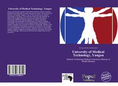 Bookcover of University of Medical Technology, Yangon