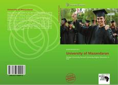 Couverture de University of Mazandaran