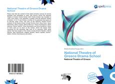 Couverture de National Theatre of Greece Drama School