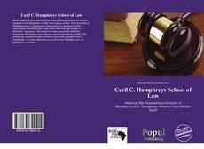 Cecil C. Humphreys School of Law kitap kapağı