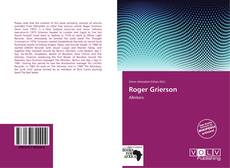 Capa do livro de Roger Grierson