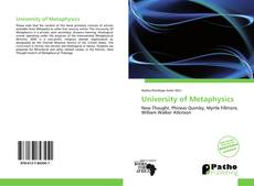 Bookcover of University of Metaphysics