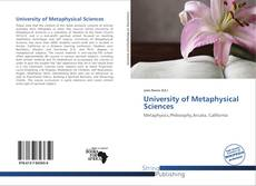 Bookcover of University of Metaphysical Sciences