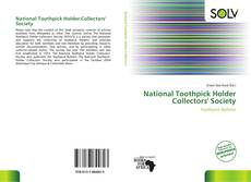 Capa do livro de National Toothpick Holder Collectors' Society