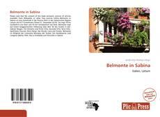 Portada del libro de Belmonte in Sabina