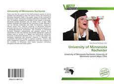 Buchcover von University of Minnesota Rochester