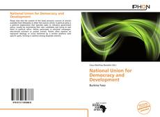 Buchcover von National Union for Democracy and Development