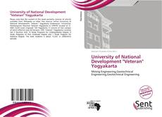 "Bookcover of University of National Development ""Veteran"" Yogyakarta"