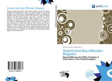 Bookcover of Violent And Sex Offender Register