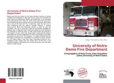 Bookcover of University of Notre Dame Fire Department