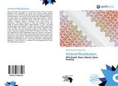 Violent Restitution kitap kapağı