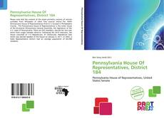 Pennsylvania House Of Representatives, District 184 kitap kapağı