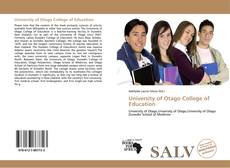 Bookcover of University of Otago College of Education