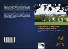Bookcover of Department of Materials, University of Oxford