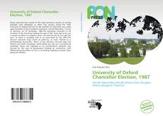 Bookcover of University of Oxford Chancellor Election, 1987