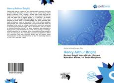 Bookcover of Henry Arthur Bright
