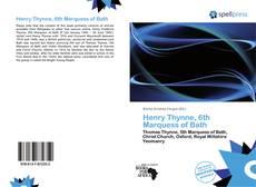 Capa do livro de Henry Thynne, 6th Marquess of Bath