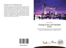 Bookcover of George Cave, 1st Viscount Cave