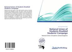 Capa do livro de National Union of Students Disabled Students' Campaign