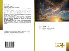 Bookcover of God's final call