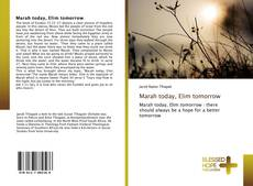 Bookcover of Marah today, Elim tomorrow