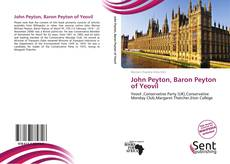 Portada del libro de John Peyton, Baron Peyton of Yeovil