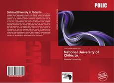 Bookcover of National University of Chilecito