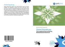 Buchcover von Violet Handicap