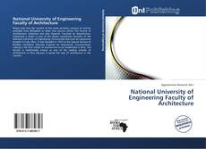 Copertina di National University of Engineering Faculty of Architecture