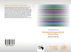Bookcover of National University of Entre Ríos