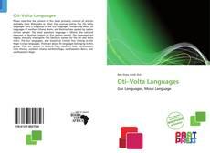 Buchcover von Oti–Volta Languages
