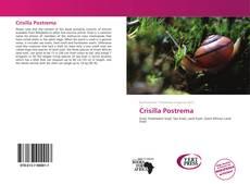 Crisilla Postrema kitap kapağı