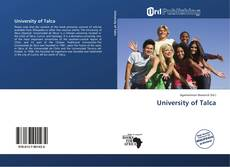 Bookcover of University of Talca
