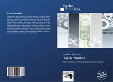 Bookcover of Taylor Number