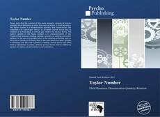 Обложка Taylor Number