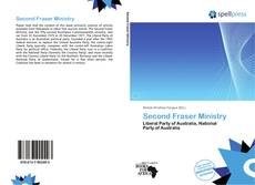 Copertina di Second Fraser Ministry